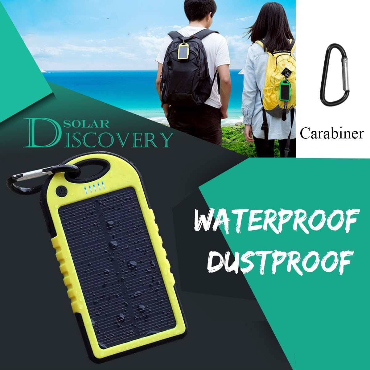 Sold 2735845101 Items Led Solar Panel Portable Waterproof Power Bank 12000mah Dual Usb Solar Ba Portable Cell Phone Charger Solar Panels Portable Solar Panels