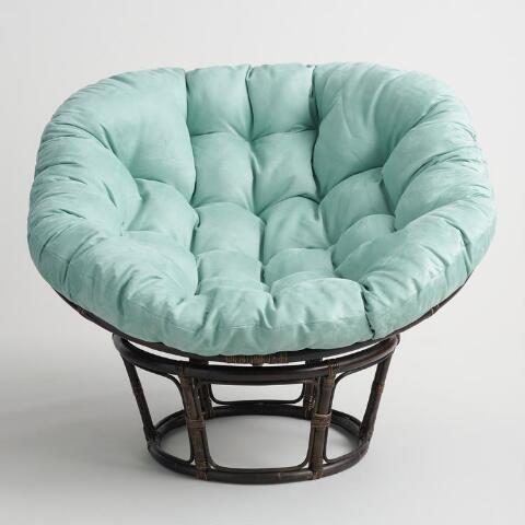 Jadeite Microsuede Papasan Chair Cushion In 2020 Papasan Chair Cushion Papasan Chair Chair Cushions