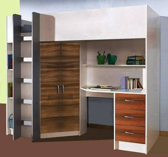 Cambridge High Sleeper Cabin Bed inc Wardrobe Chest of Drawers Bookcase Desk Shelving & high sleeper with desk | Eli\u0027s room | Pinterest | Desks Room and Spaces
