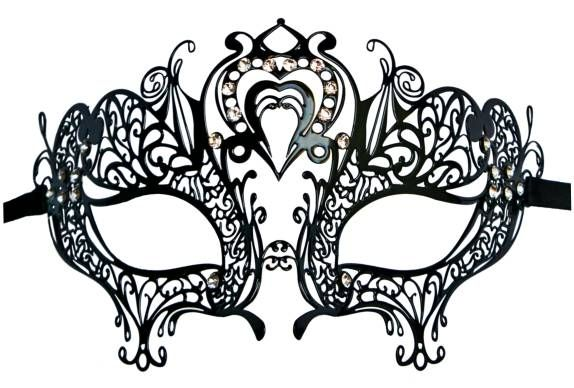 Filigree Metal Mask Heart Shape  Are You Afraid Of The Dark