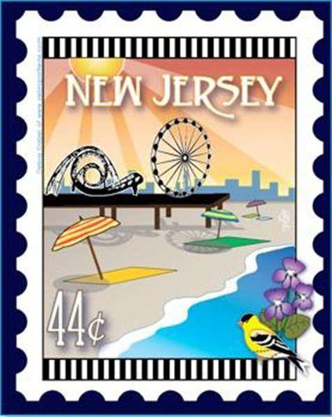 New Jersey Stamp Panel 18 X 21