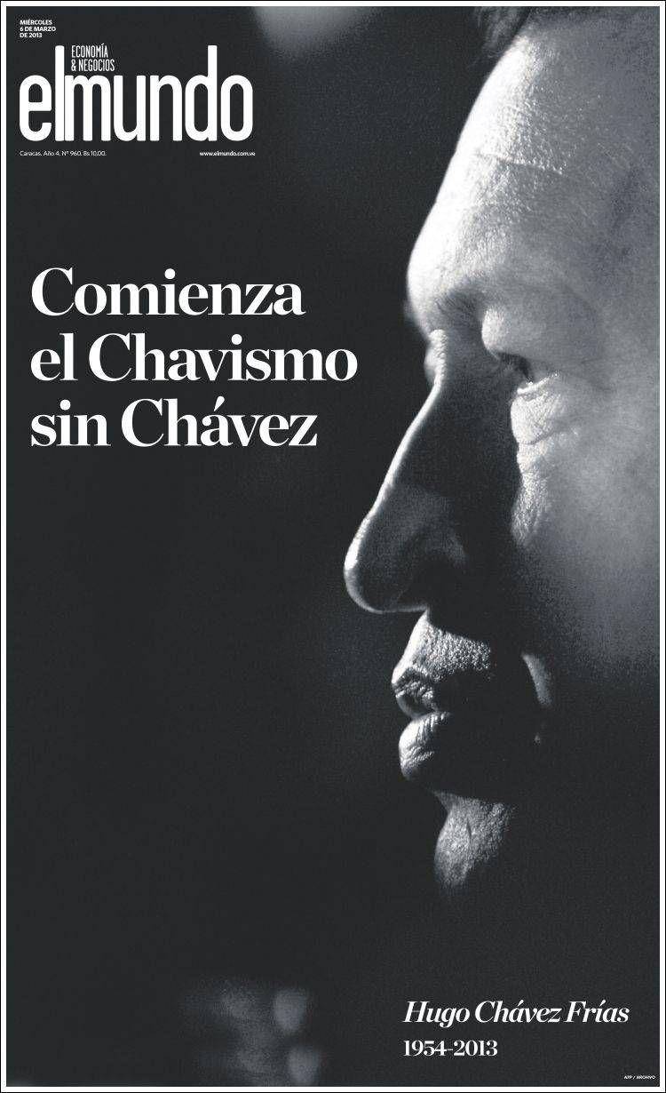 Muere Chávez Las Portadas Del Día Siguiente Portadas Periodismo Hugo Chávez
