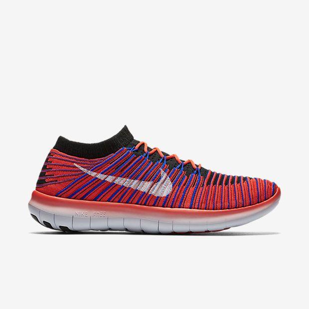 Nike Free RN Motion Flyknit Mens Running Shoes 9 Bright Crimson ...