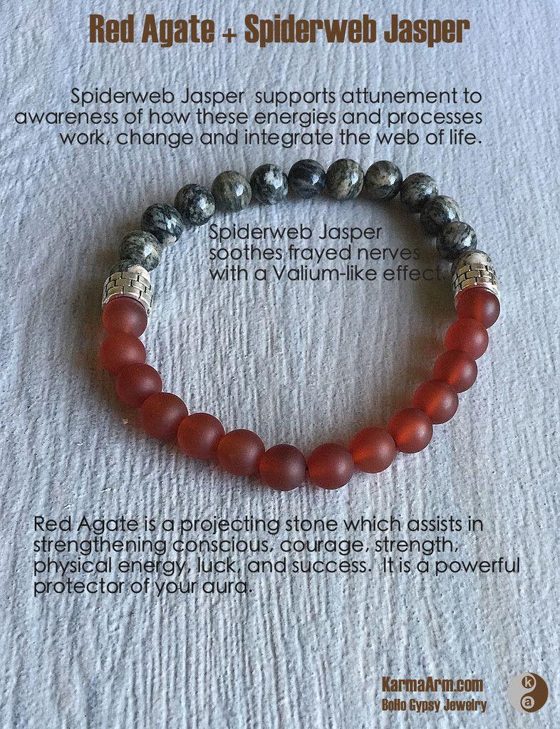 Black agate bracelet red agate bracelet agate healing bracelet bracelet meditation motivation protection bracelet