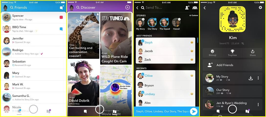 Snapchat Introduces A Redesigned App That Separates Your Folks From Manufacturers Snapchat Design Snapchat Discover