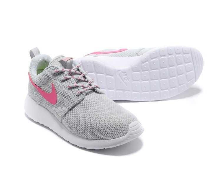 UK Running Nike  Roshe Run Yeezy Trainers Womens Grey Pink White