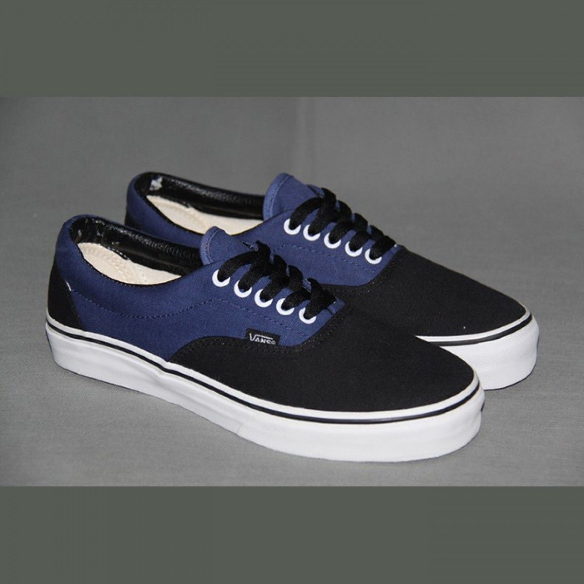 5d0899cdbd Vans Shoes Black Navy Blue Two-Tone Era Shoes Unisex Classic Canvas ...