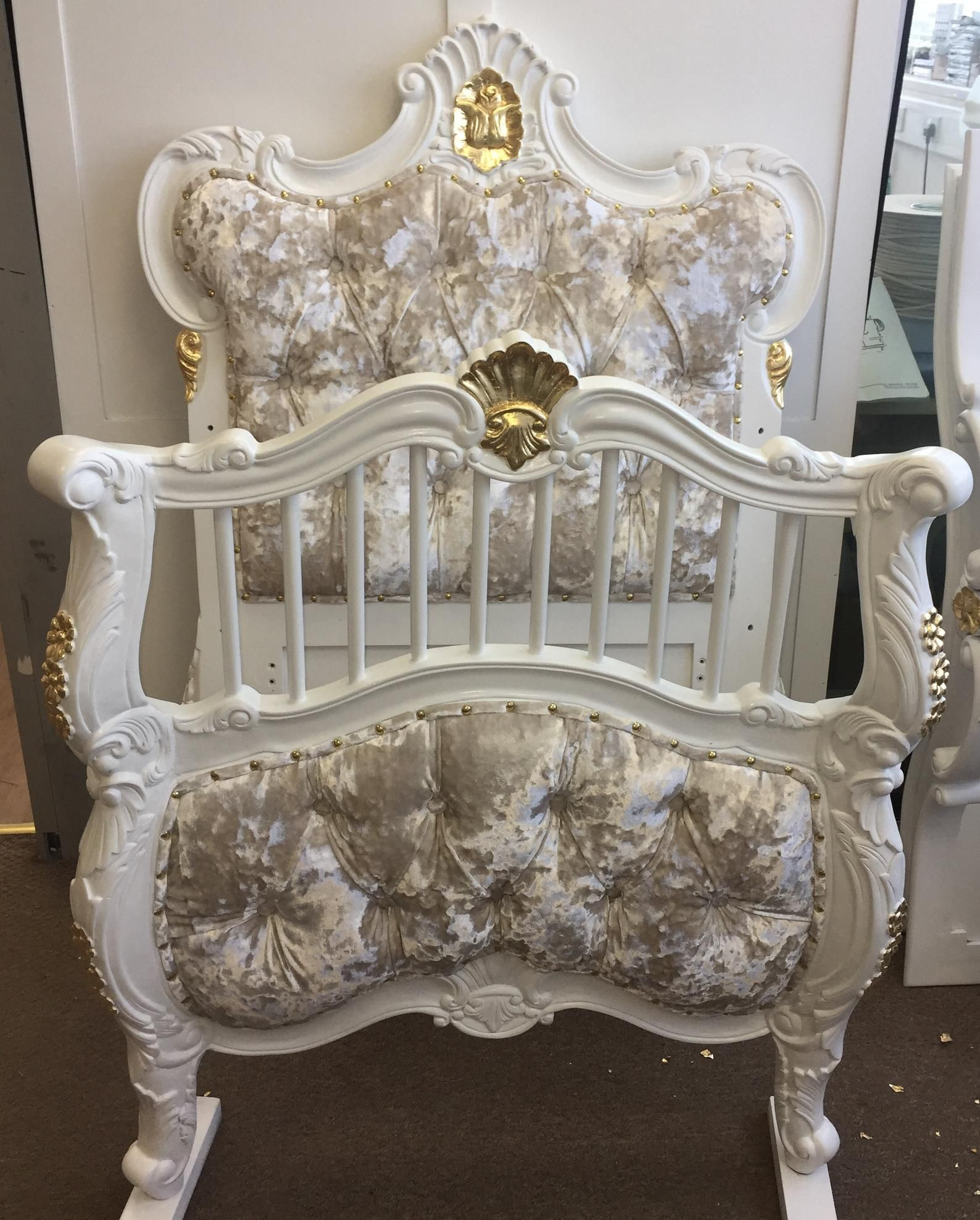 Cot Bed Bespoke In Stock Castello Rococo French Etsy Baby Room Decor Cot Bedding Classic Bedroom Furniture