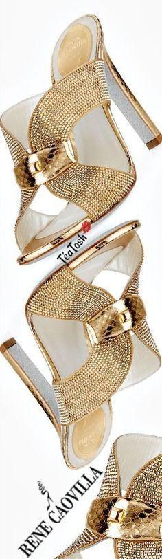❈Téa Tosh❈ Rene Caovilla, Embellished Crystal Slide Sandal #renecaovilla #t… – closes fashion