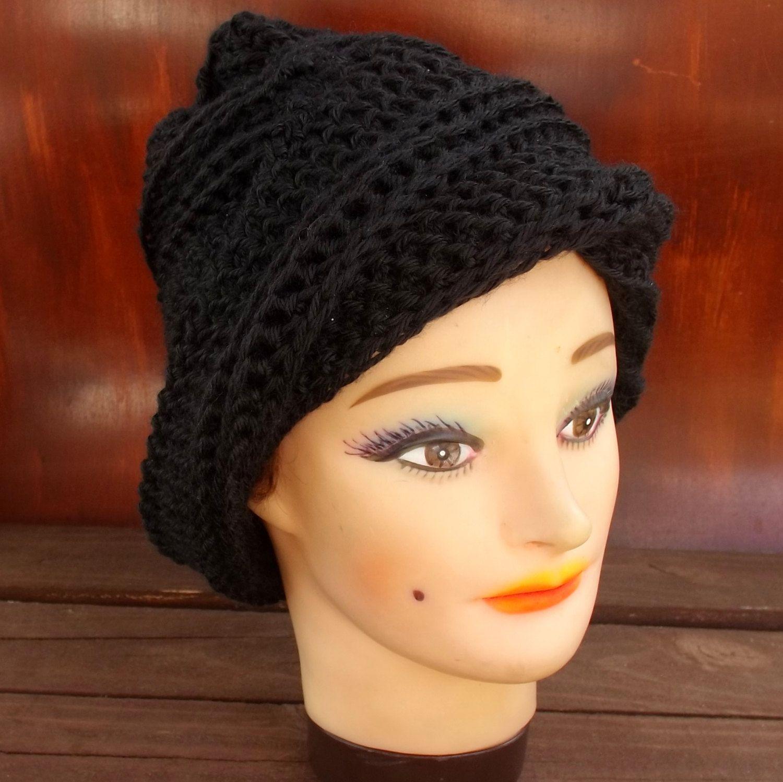 Womens Crochet Hat, Womens Hat Trendy, Crochet Beanie Hat, Black Hat ...