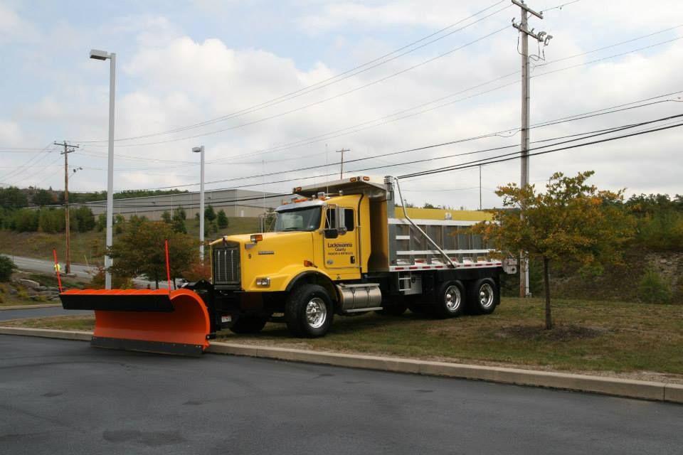 A Kenworth Dump Plow Truck Belonging To The Lackawanna County