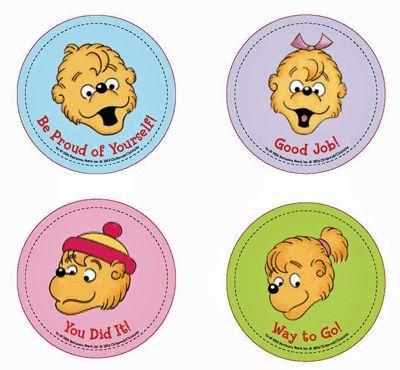 200 Berenstain Bears Reward Stickers | berenstain bears | Pinterest