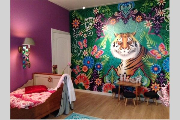 Meiden kamer herenhuis Haarlem Kleur en behang advies, gordijnen ...