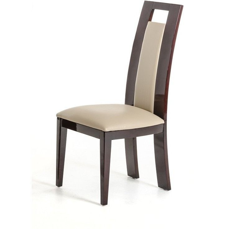 Douglas Modern Ebony And Taupe Dining Chair Set Of 2 Dining