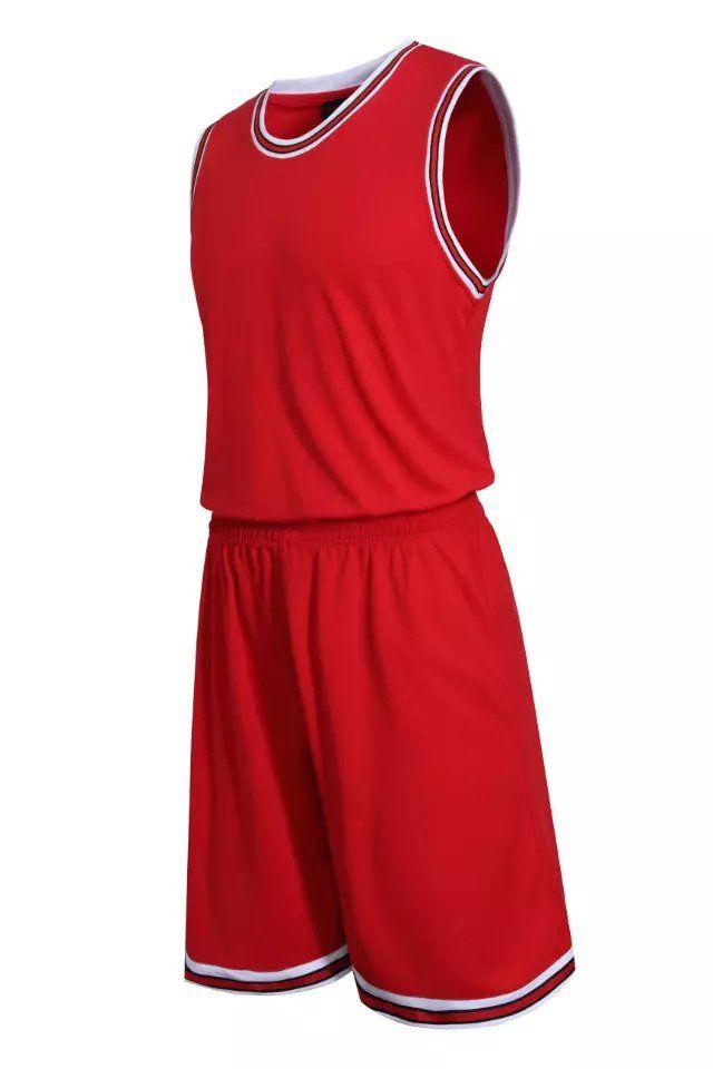 0f6a6f896ef Red Blank Basketball Suit Team Name Logo Custom Usa Basketball Throwback  Cheap Sleeveless Basketball Uniforms Breathable