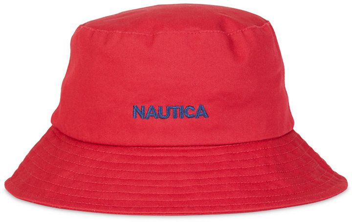 fe071833707 Nautica Men s Classic Logo Bucket Hat