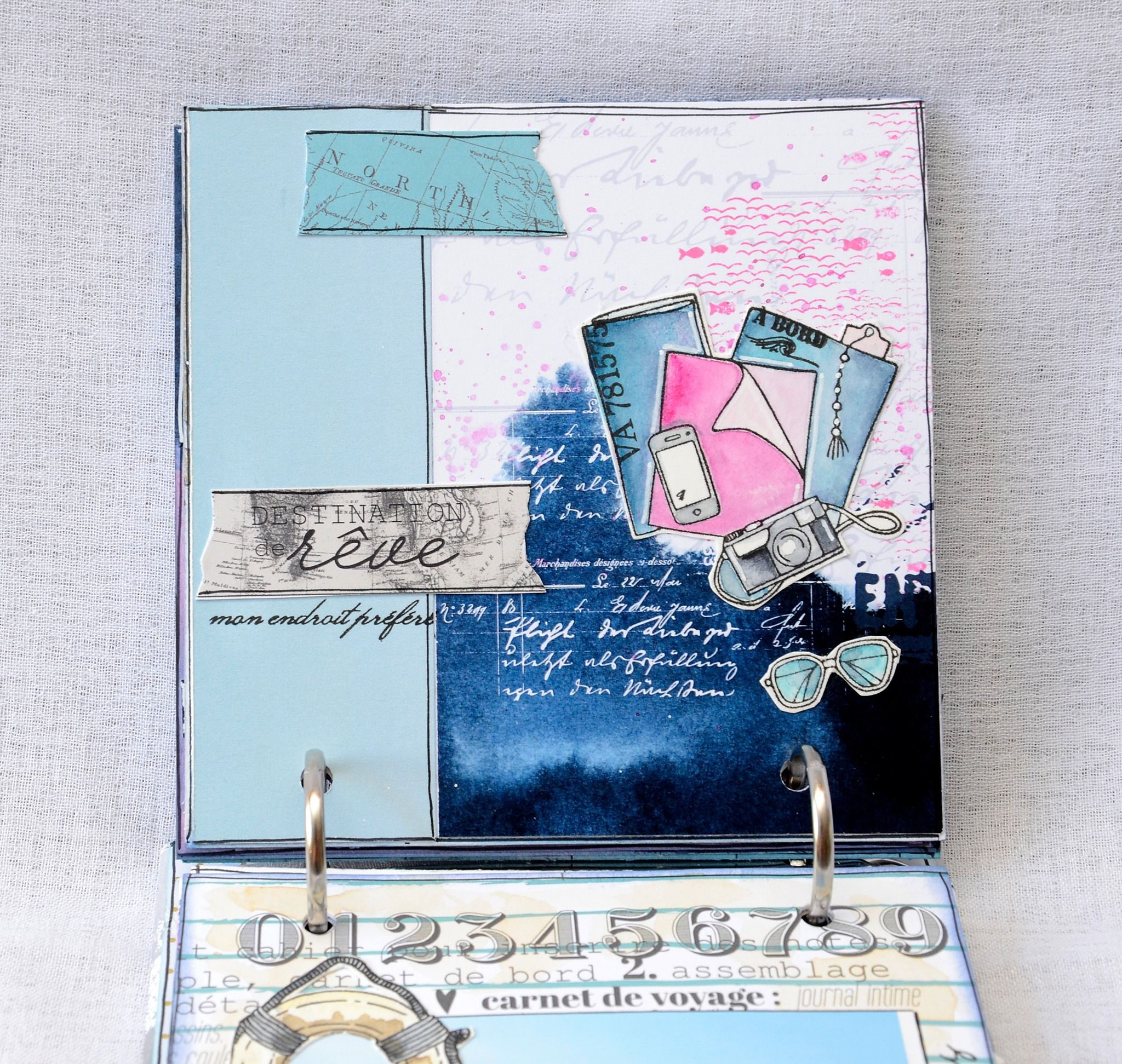 Mini Album Carte Postale Par Pinklola Chou Flowers Mini Albums Carte Postale Postale