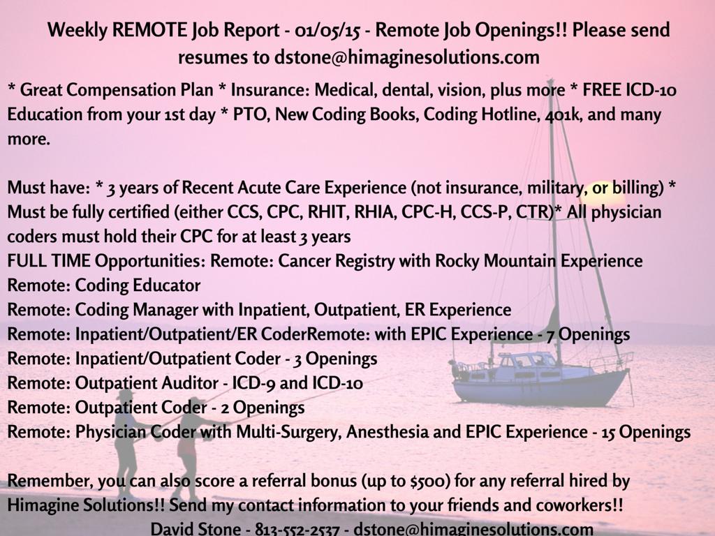 Weekly Job Report