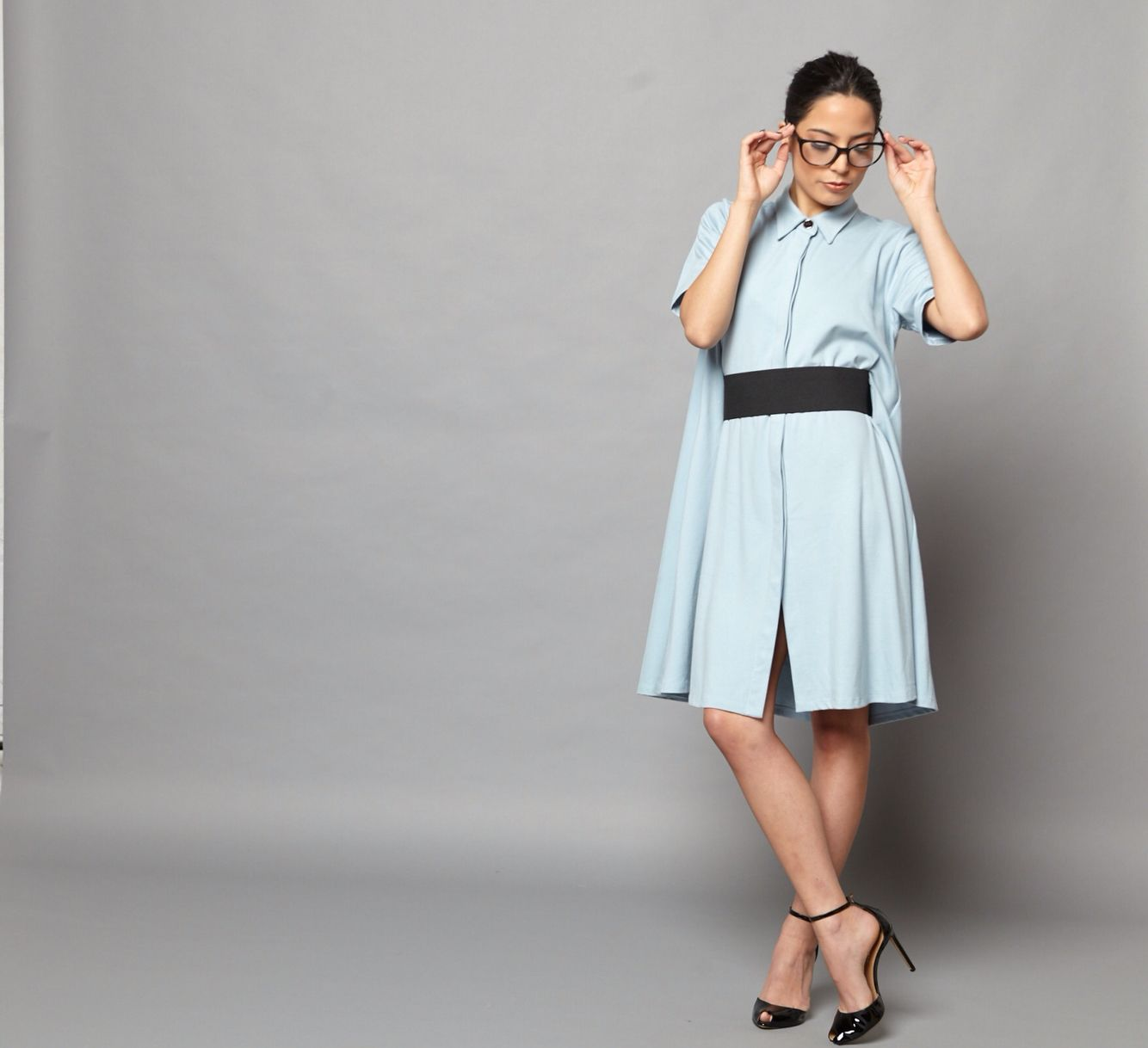 The new Tracy Nicole Clothing Baby Blue Swing Cocktail Dress www.tracynicoleclothing.com