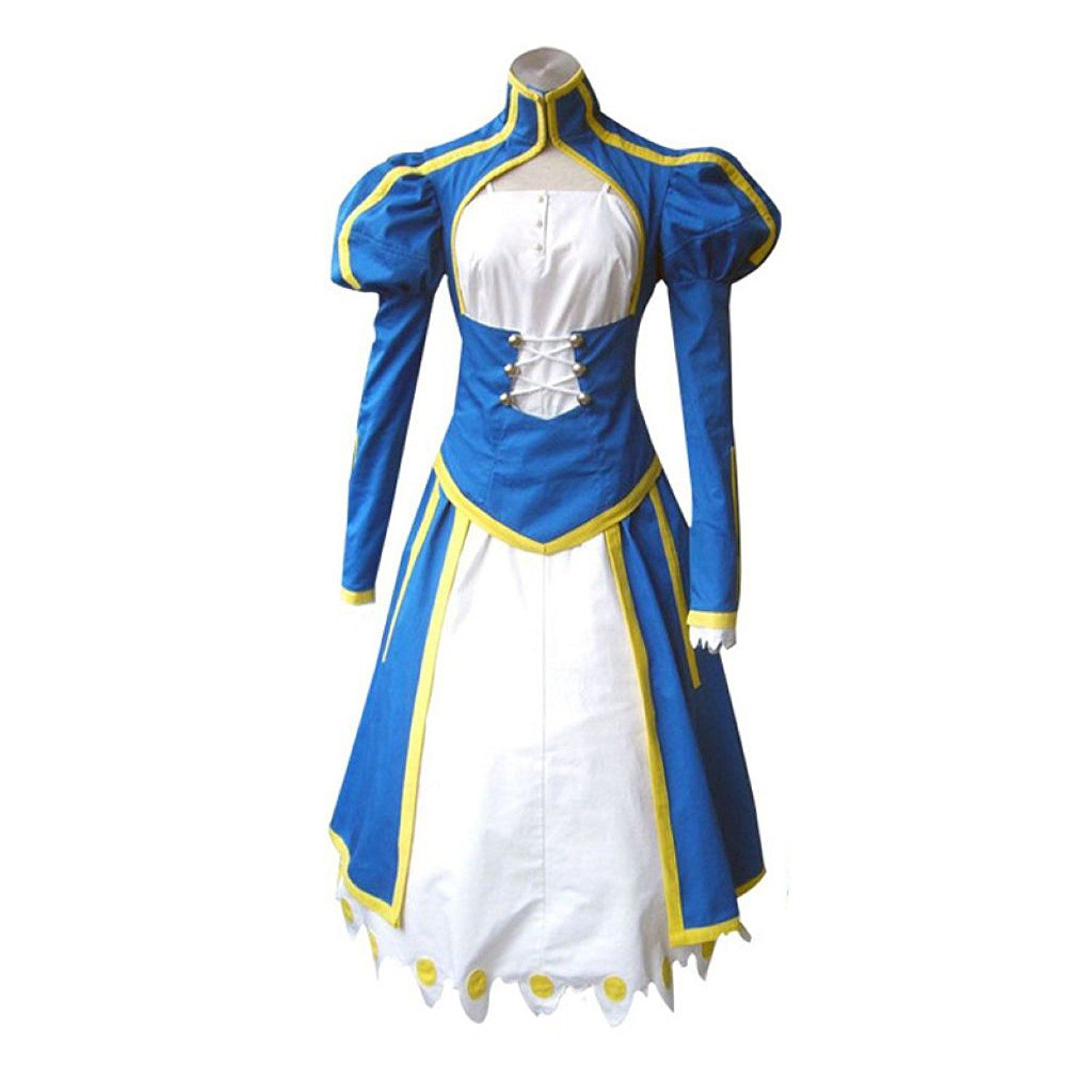 Fate Stay Night Cosplay Costume Blue Saber Swordsman