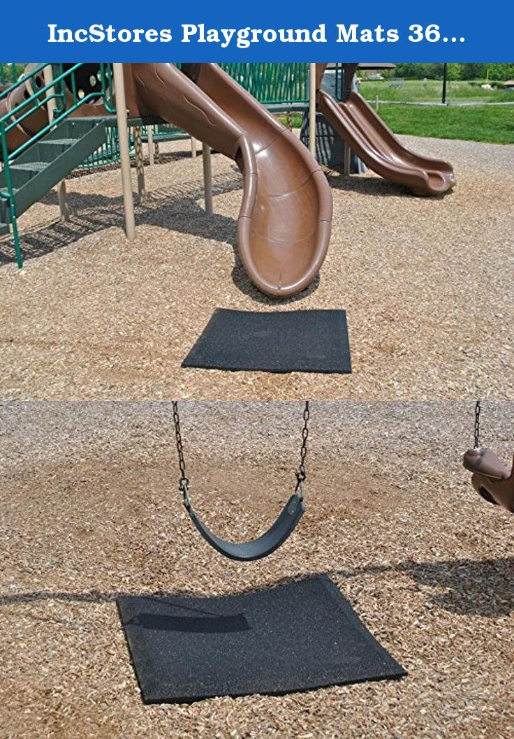 Incs Playground Mats 36in X Slide And Swing Mat Fall Protection With Beveled Sides