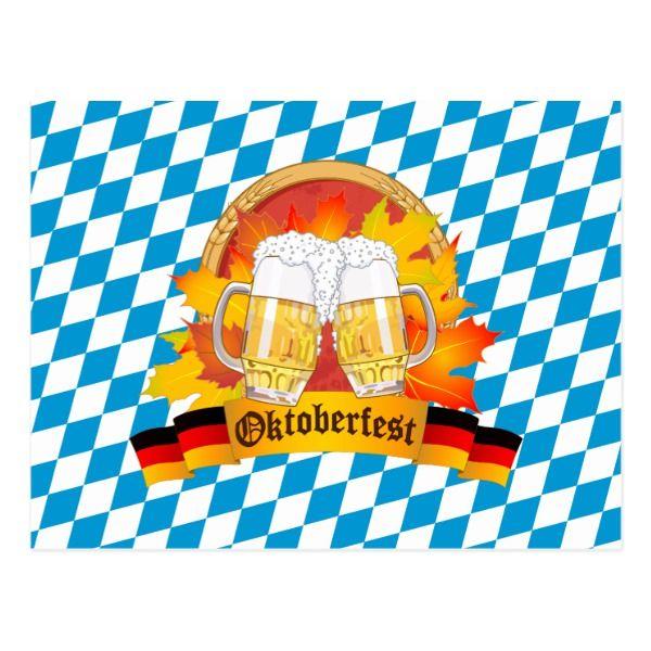 Oktoberfest German Beer Festival Postcard