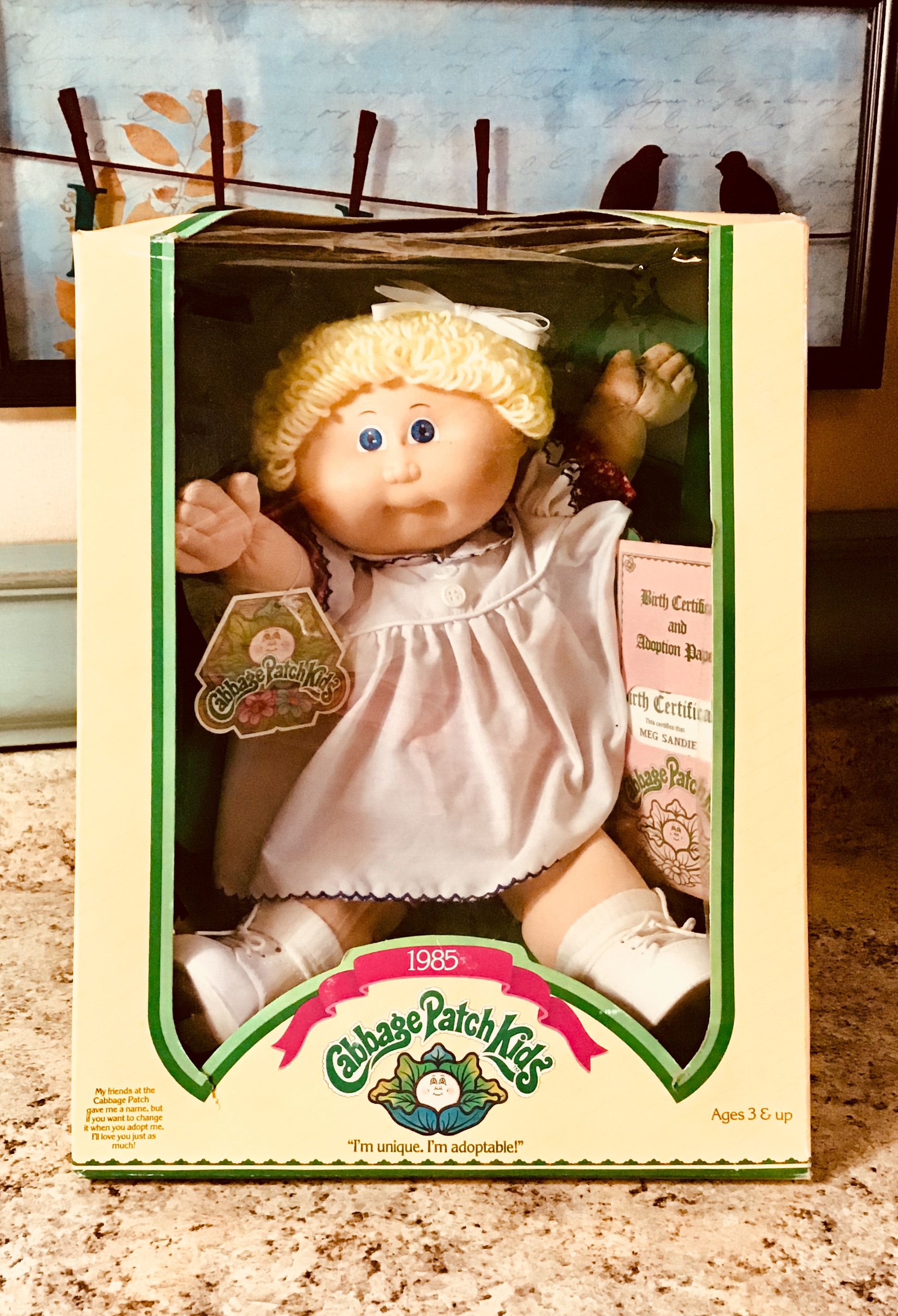 1985 Nib Cabbage Patch Kid Xavier Roberts Cbk Doll Etsy Cabbage Patch Kids Toy Collection Cabbage Patch Dolls