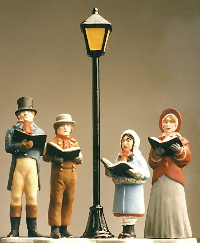 Victorian Christmas Carolers Figurines: Victorian Christmas Caroler Figures