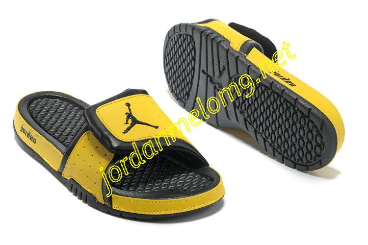 73b38f02b9d5 Air Jordan Hydro 2 Slide Slides Sandals Sandals Black Yellow ...
