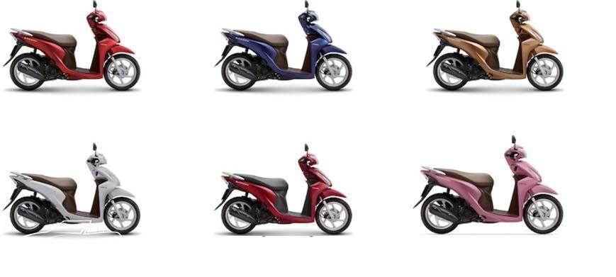 Honda Vision 2018 có mấy màu