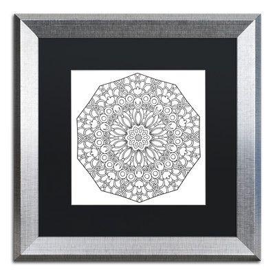 Trademark Art 'Fun Mandala' by Kathy G. Ahrens Framed Graphic Art Size: 1