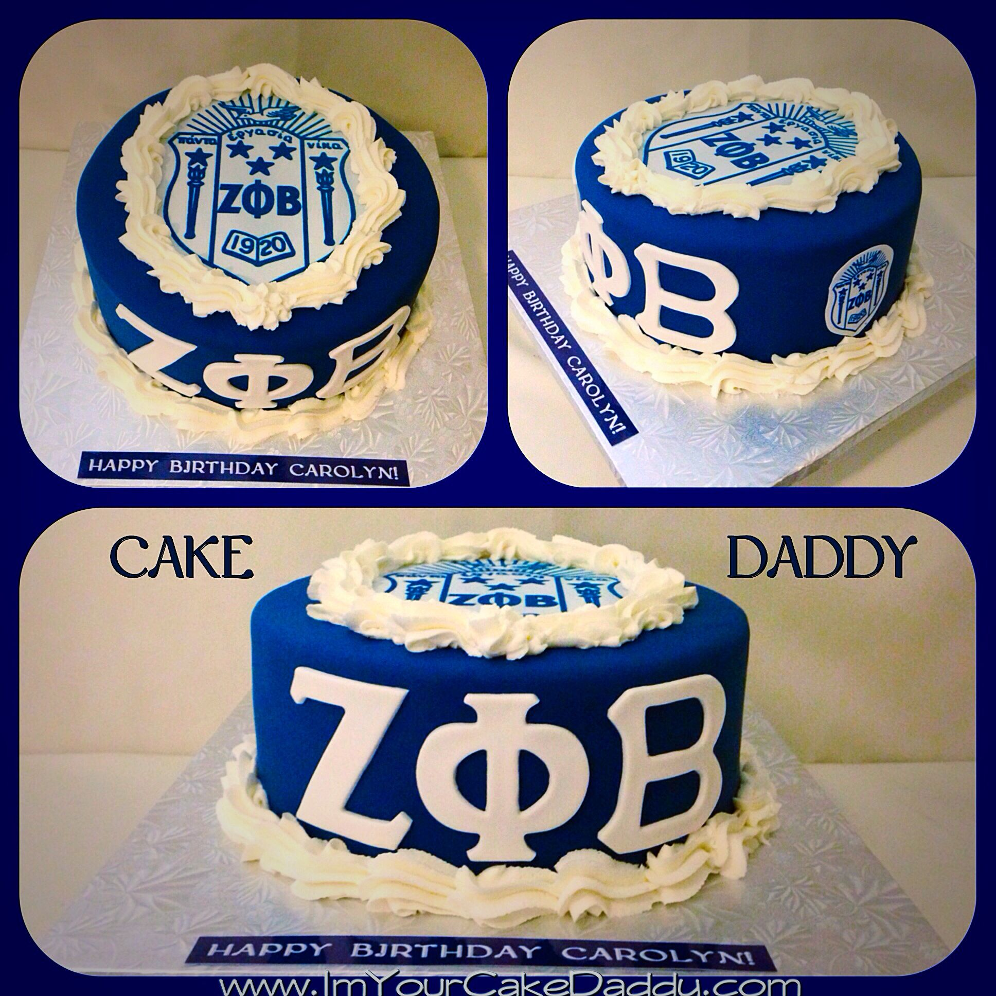 Zeta Phi Beta Cake Designs