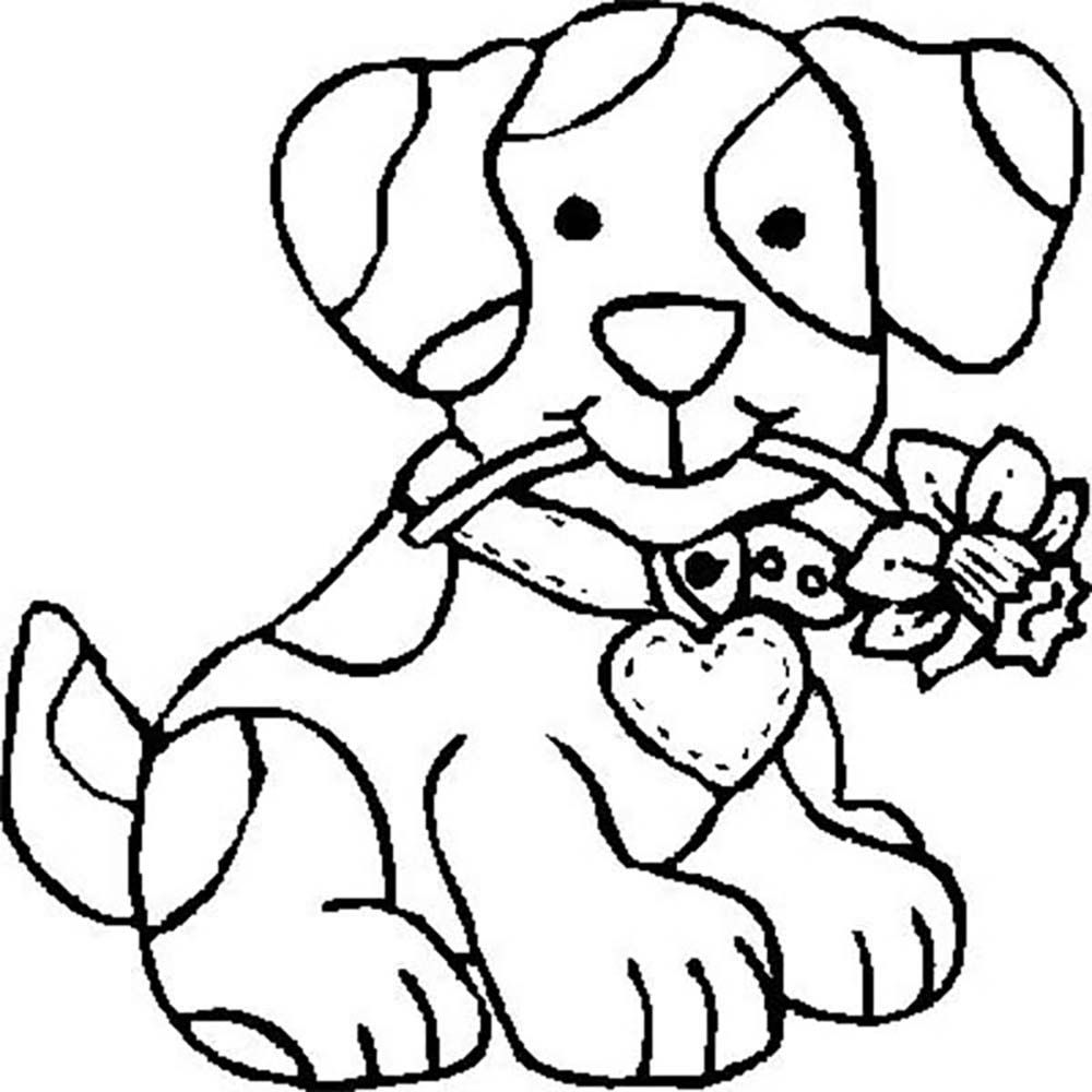 Dog Brought Flowers | flowers coloring pages | Pinterest | Kids net ...
