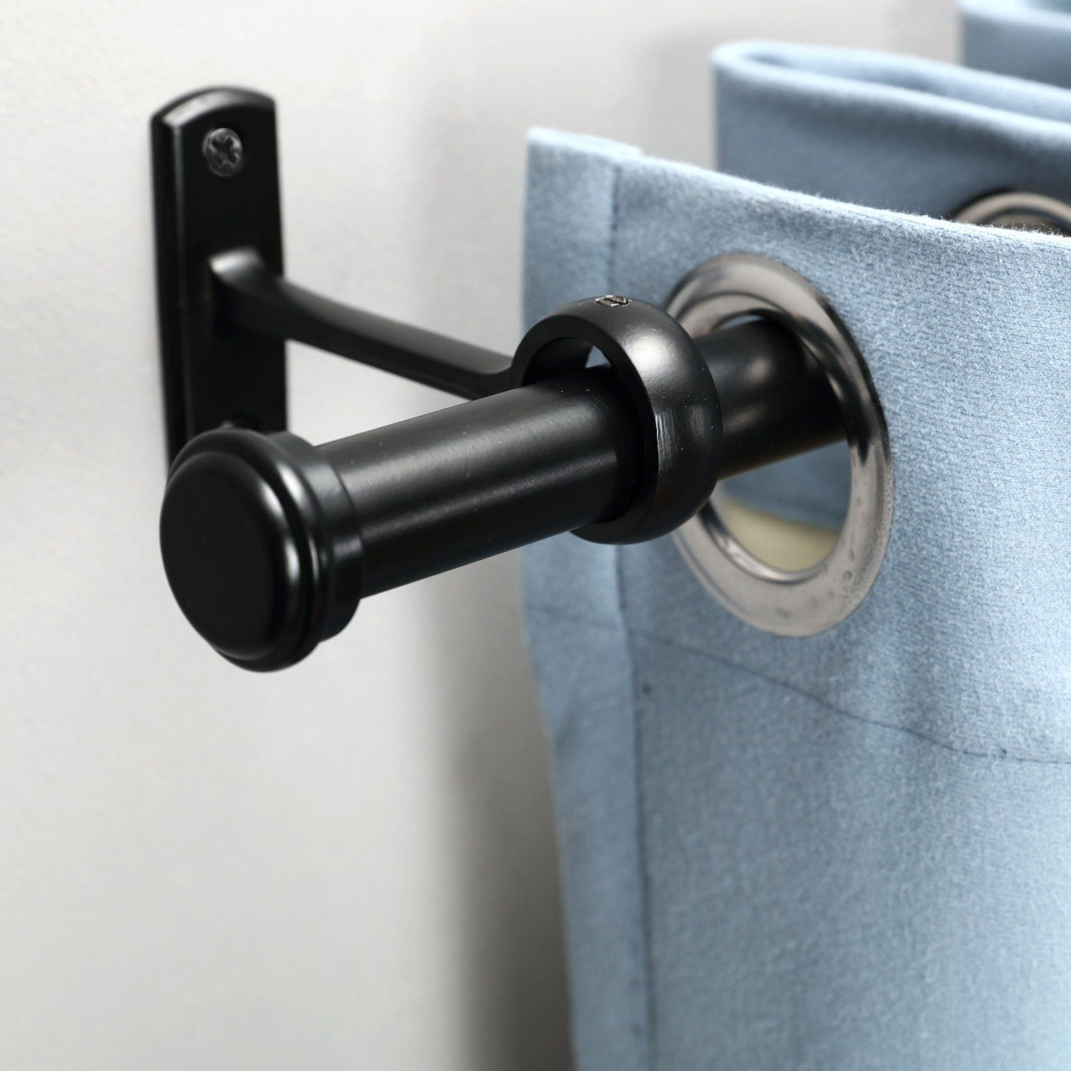 Rose Home Fashion Rhf 1 Inch Curtain Rods 48 To 86inchblack