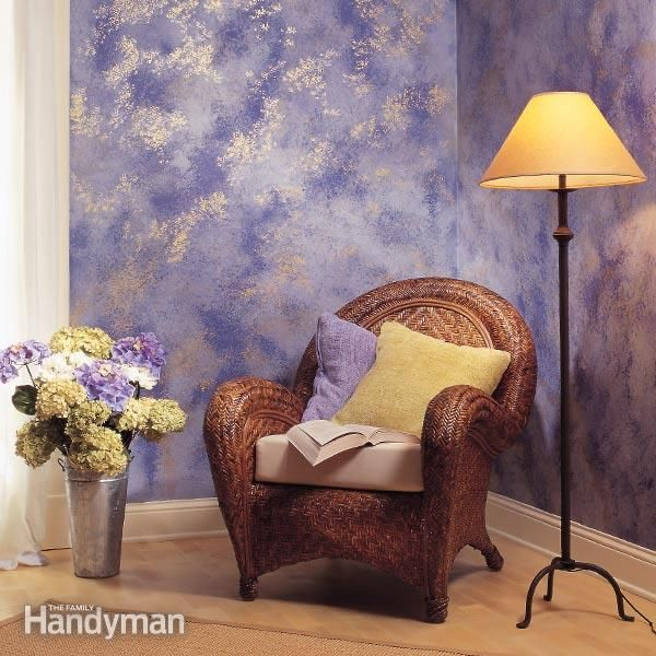 how to sponge paint a wall | interior walls, interiors and walls