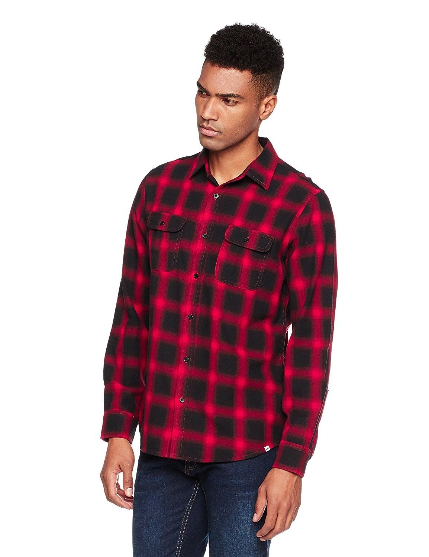 Menus long sleeve regular fit pocket buttondown cotton blend