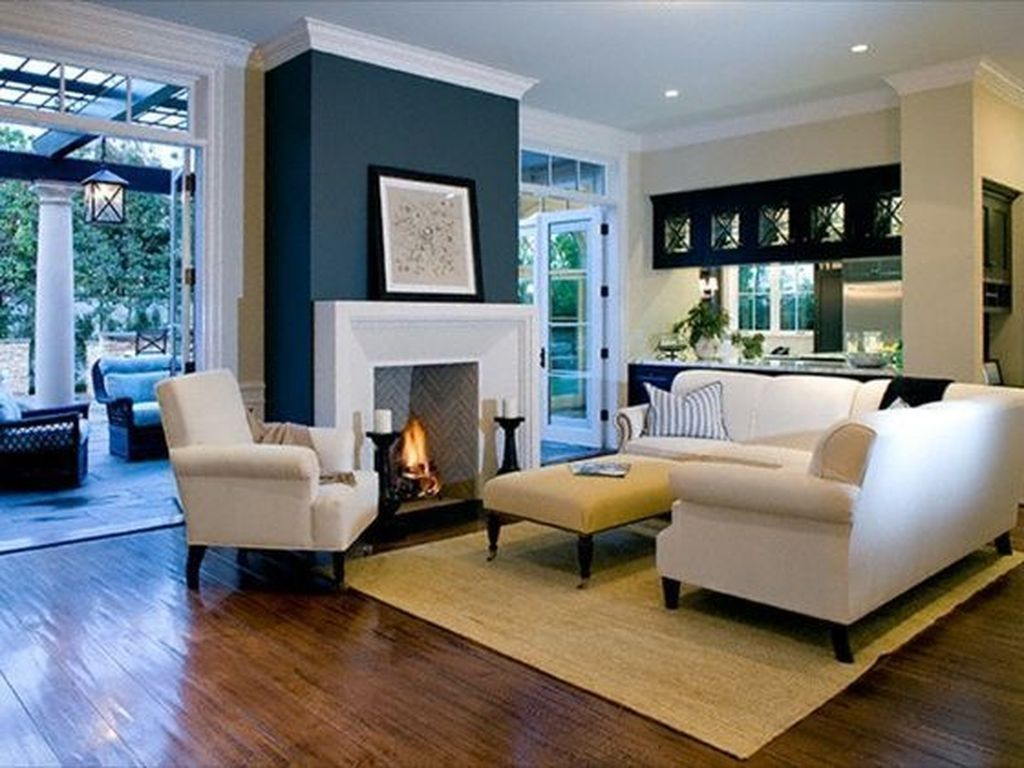 40 Best Winter Living Room Makeover Ideas Homyhomee Accent Walls In Living Room Home Living Room Living Room With Fireplace