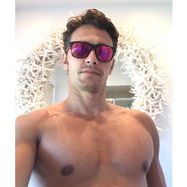shirtless selfie franco James