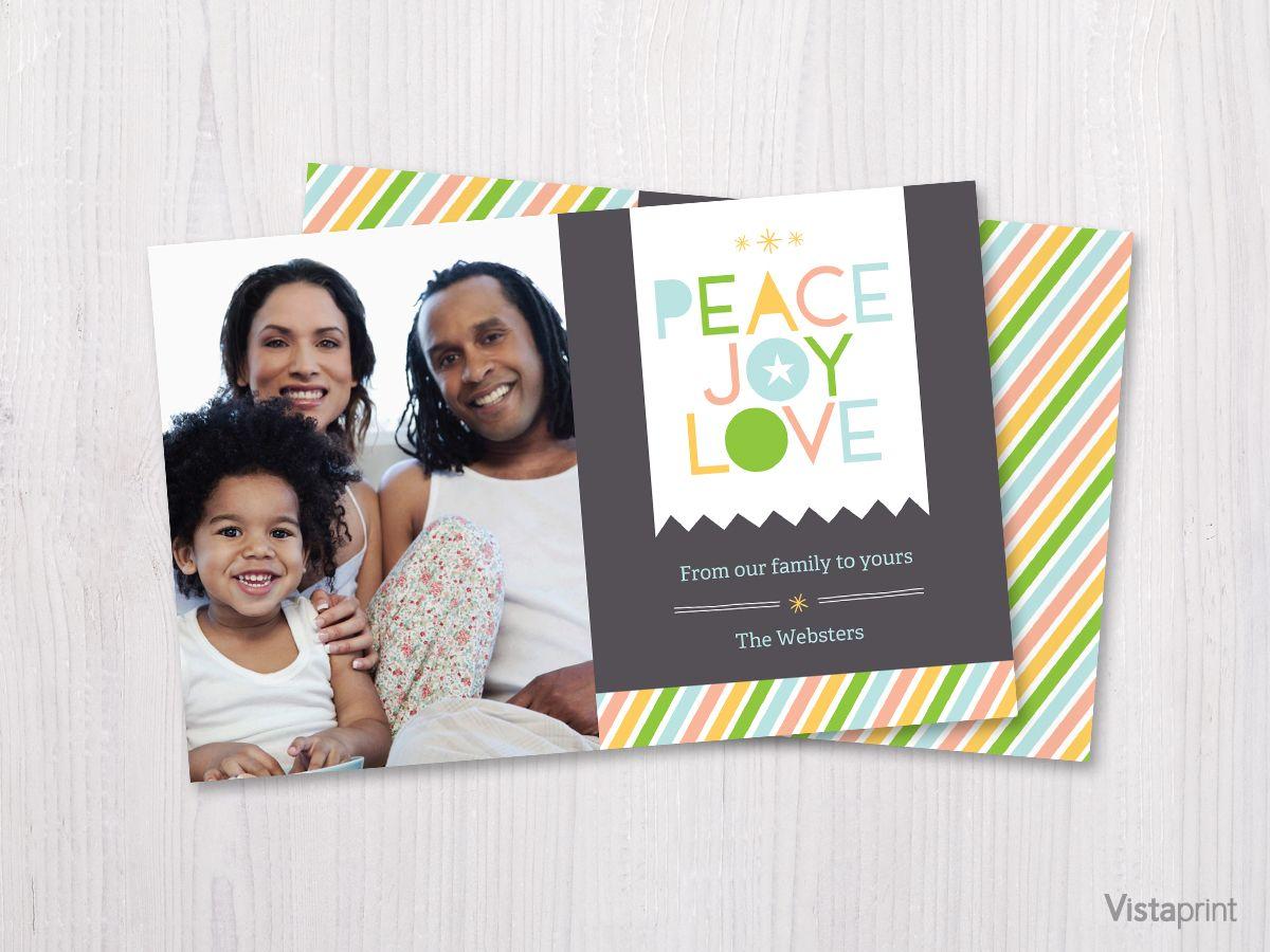 Peace Love Joy Holiday Card | Vistaprint | CHRISTMAS CARDS ...