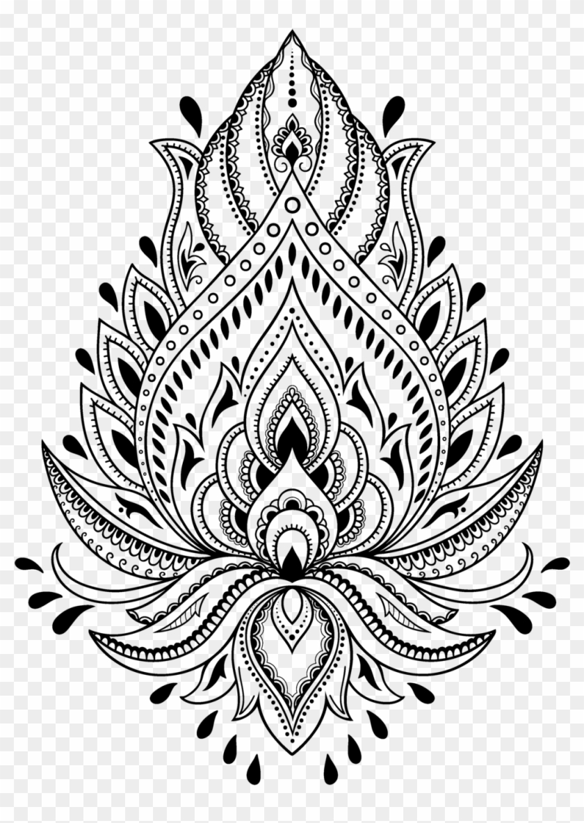Tattoo Henna Stencil Template Mehndi Free Hd Image Henna Drawings Clipart Is High Quality Geometric Tattoo Stencil Henna Stencils Henna Tattoo Designs Simple