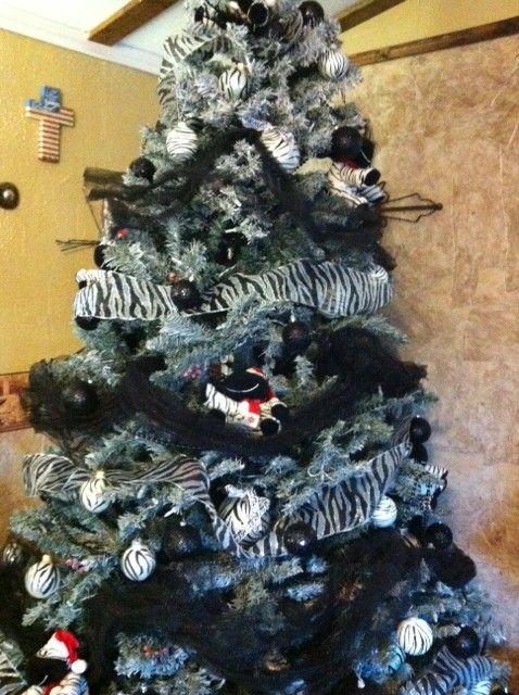 my zebra Christmas tree  Christmas  Pinterest  Christmas tree