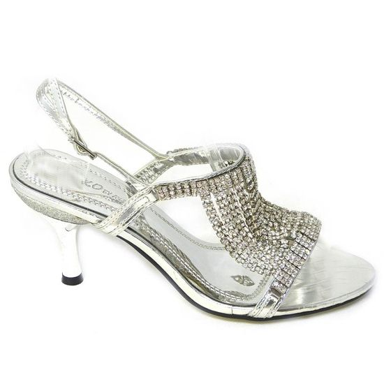 Diamante Silver Low Kitten Heel Wedding Party Prom Sandals Shoes All Size Uk 3 8 Wedding Shoes Low Heel Heels Wedding Shoes Heels