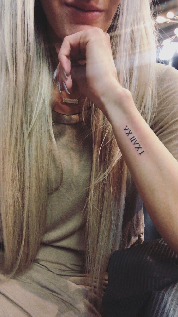 Roman numeral tattoo, tiny tattoo, wrist tattoo, anniversary tattoo -   25 meaningful wrist tattoo ideas
