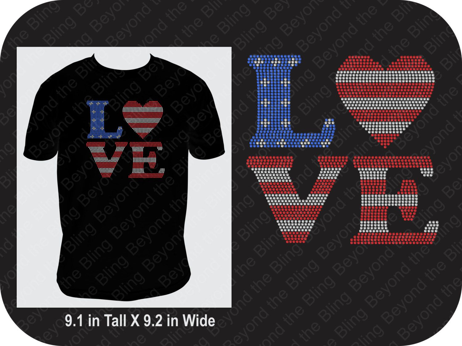 4th Of July Rhinestone Shirt Template Download Usa Flag