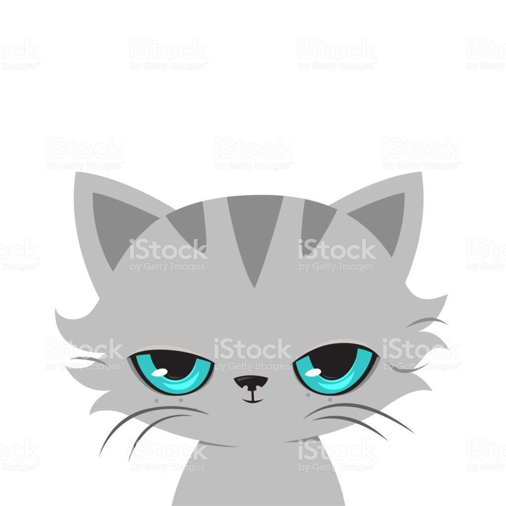 Vetores De Desenho De Gato Bravo Gato Bonito Malhumorado Vetor E