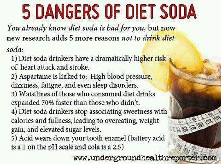 is drinking diet soda dangerous.