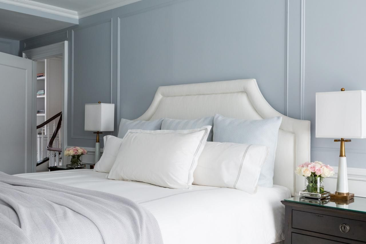 Brooklyn Brownstone Updated For Young Family  Blue Walls Master Glamorous How To Clean Bedroom Walls Design Decoration