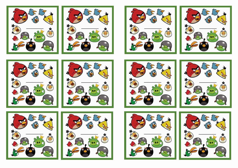 Free Printable Angry Birds Themed Name Tags Themed Name Tags