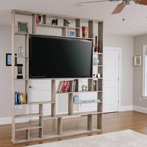 lexington room divider / bookshelf / tv standron corl | wall