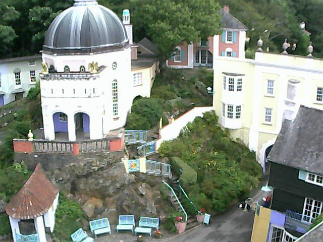 Battery Square Portmeirion viewed from a Camsecure IP Webcam